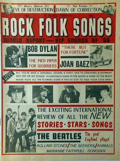 rock folk songs magazine Bob Dylan cover story
