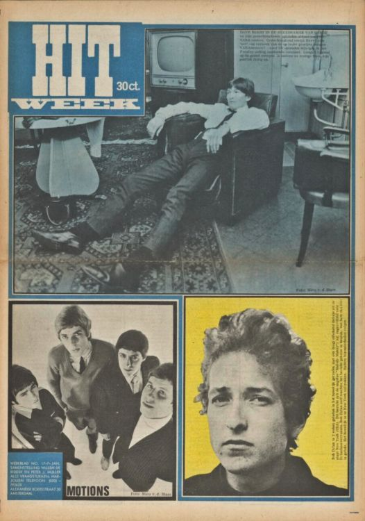 hitweek 1965 07 magazine Bob Dylan cover story