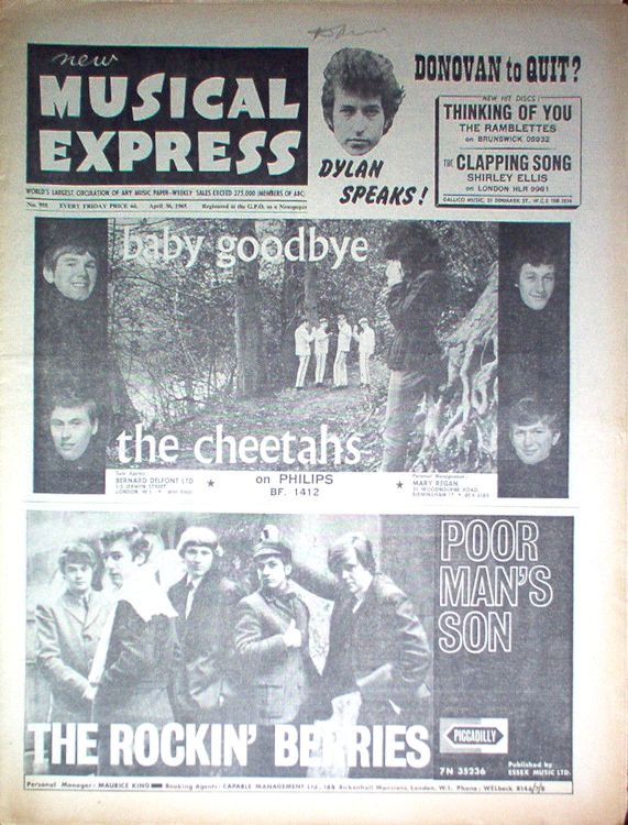 New Musical Express Bob Dylan cover story