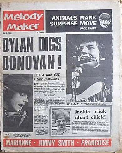 Melody Maker8 May 1965 Bob Dylan cover story