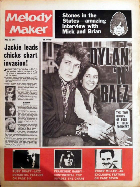 Melody Maker 22 May 1965 Bob Dylan cover story