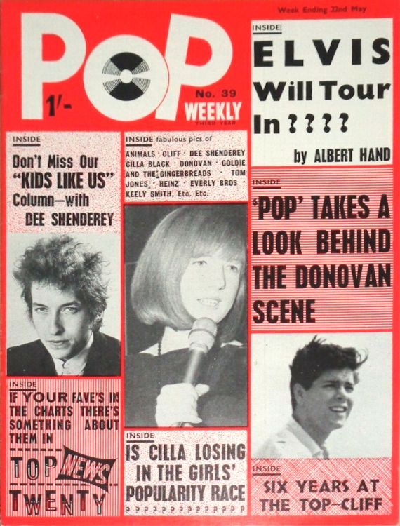 pop weekly May 1965 magazine Bob Dylan cover story