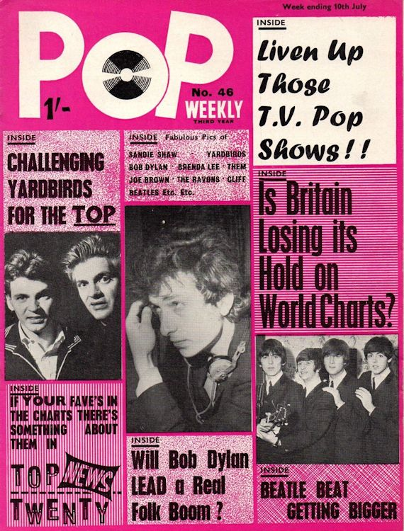 pop weekly 1965 July magazine Bob Dylan cover story