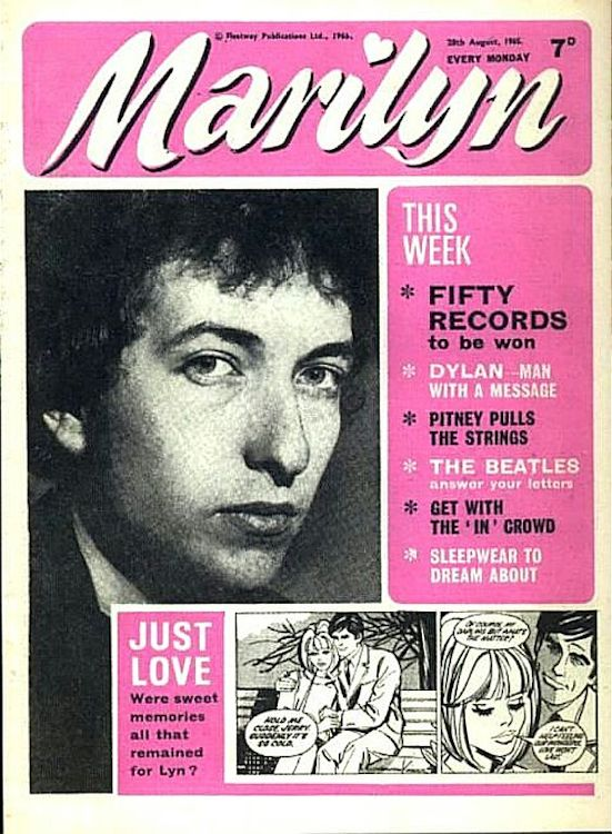 marilyn magazine Bob Dylan cover story