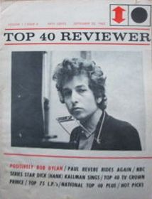 top 40 reviewer magazine Bob Dylan cover story