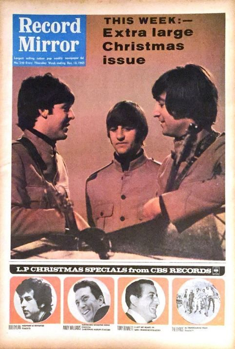 record mirror magazine 18 December 1965 Bob Dylan cover story