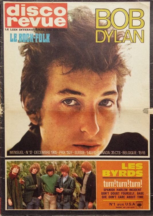 disco revue magazine Bob Dylan cover story