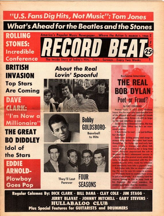 record beat usa magazine Bob Dylan cover story