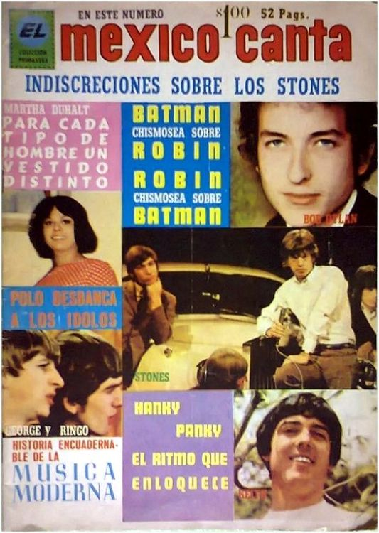 mexico canta magazine 1966 Bob Dylan cover story