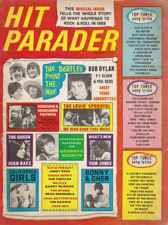 hit parader 1966 01 magazine Bob Dylan cover story