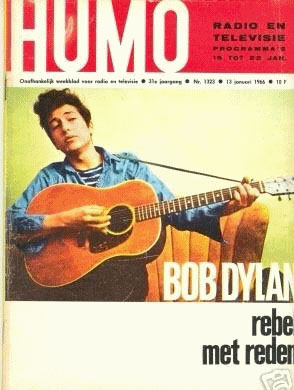humo 1966magazine Bob Dylan cover story
