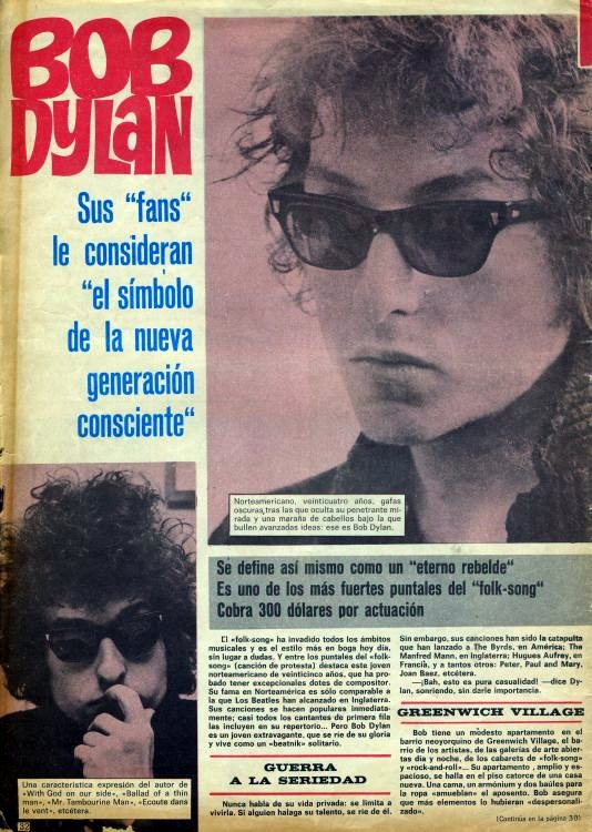 fans magazine Bob Dylan cover story