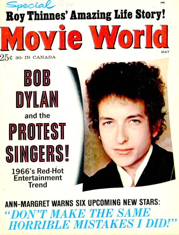movie world magazine Bob Dylan cover story