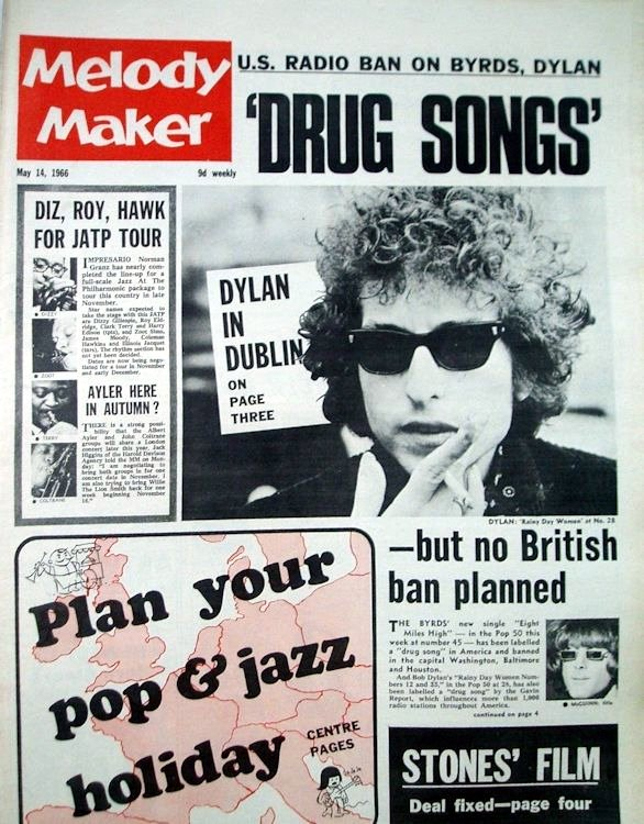 Melody Maker 14 May 1966 Bob Dylan cover story