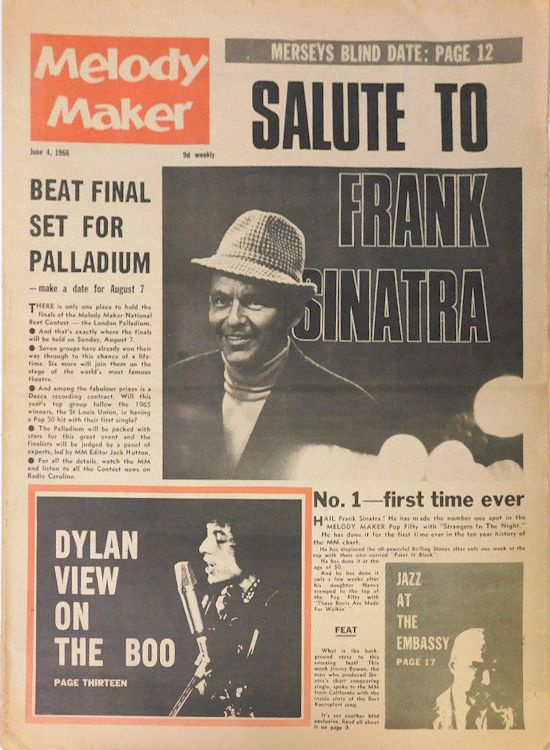 Melody Maker 4 June 1966  Bob Dylan cover story