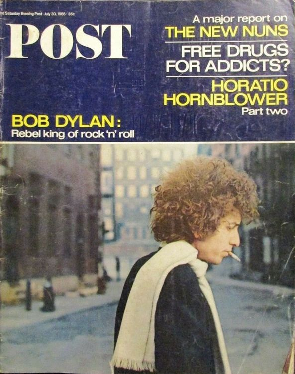 saturday evening post July 1966 magazine Bob Dylan cover story