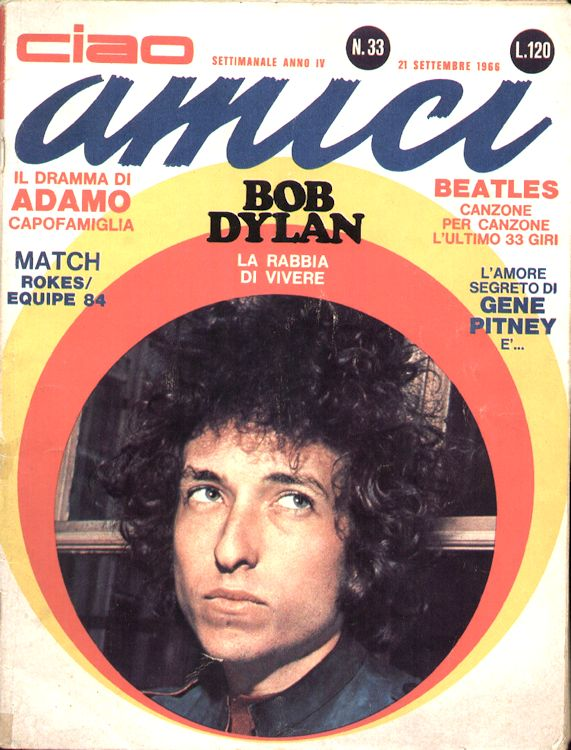 ciao amici 1966 magazine Bob Dylan cover story