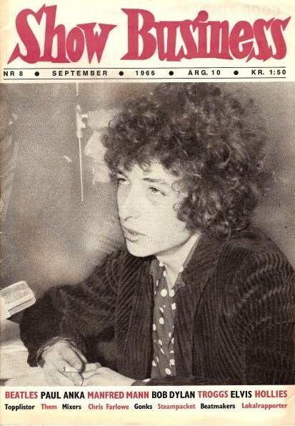 show business magazine Bob Dylan cover story