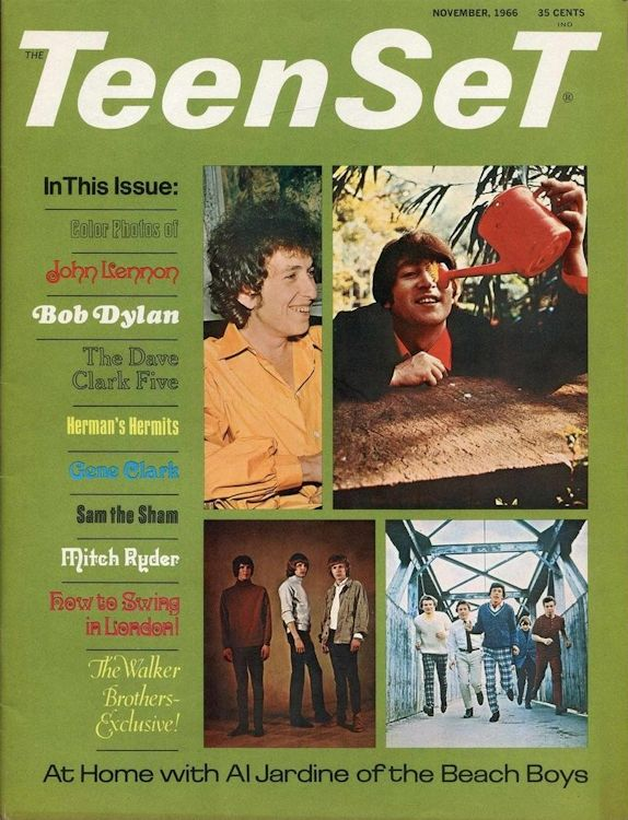 teenset magazine Bob Dylan cover story