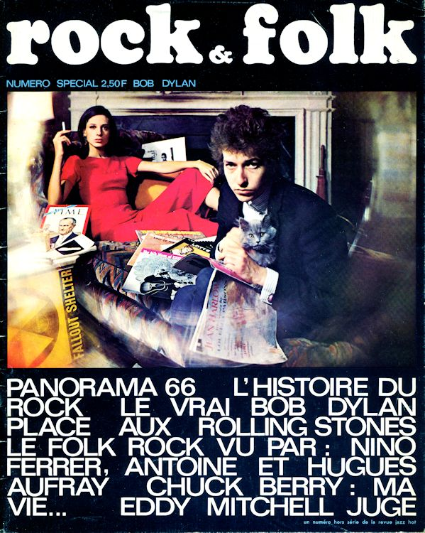 rock & folk pilot issue magazine france  Bob Dylan cover story