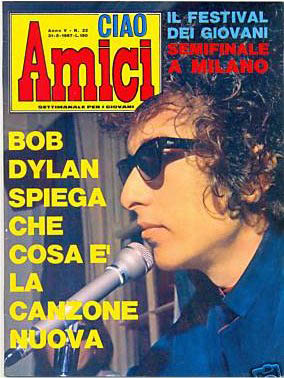 ciao amici 1967 magazine Bob Dylan cover story