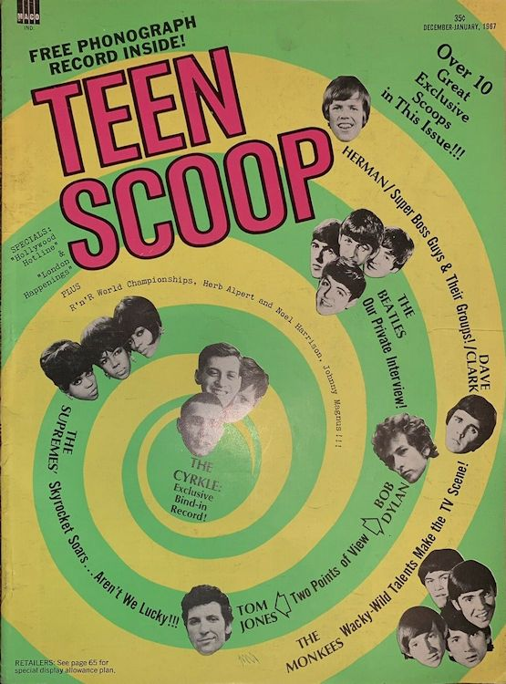 teen scoop magazine Bob Dylan cover story
