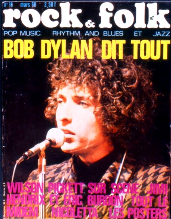 rock & folk magazine france #16 Bob Dylan cover story