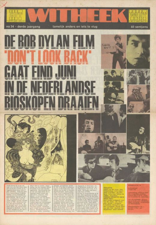 hitweek 1968 05 magazine Bob Dylan cover story
