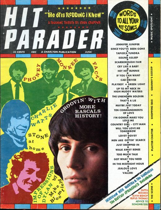 hit parader 1968 06 magazine Bob Dylan cover story