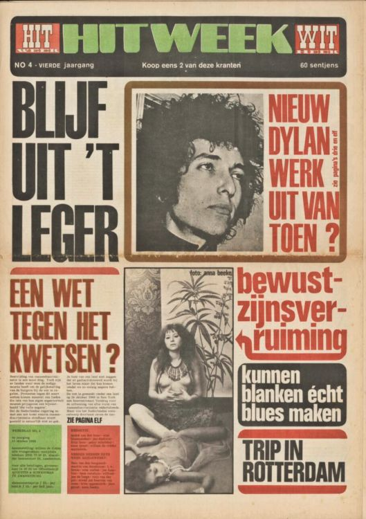 hitweek 1968 11 magazine Bob Dylan cover story