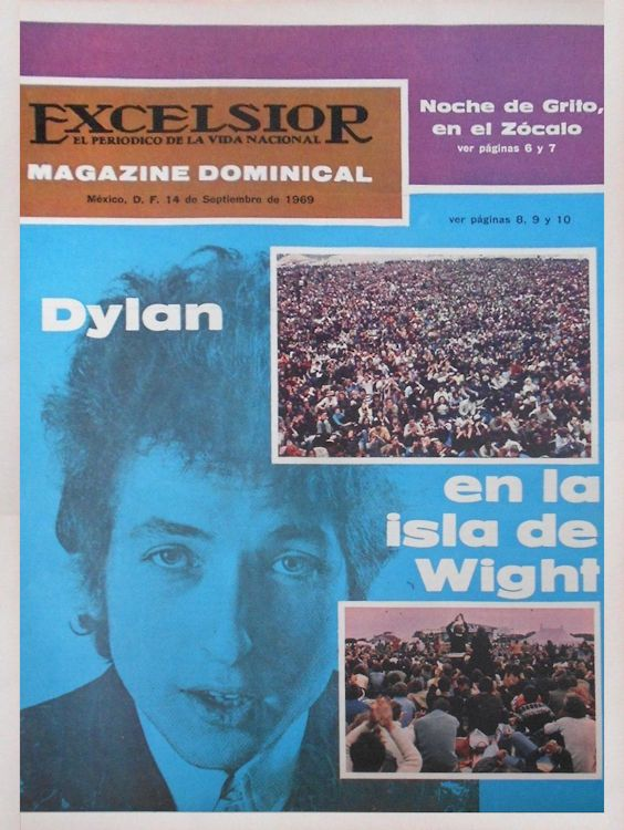 excelsior mexico magazine Bob Dylan cover story