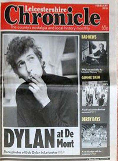 leicestershire chronicle magazine Bob Dylan cover story