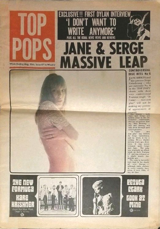 top pops magazine Bob Dylan cover story