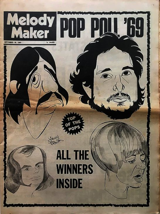 Melody Maker 20 September 1969 Bob Dylan cover story