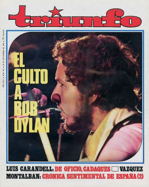 triunfo spain magazine Bob Dylan cover story