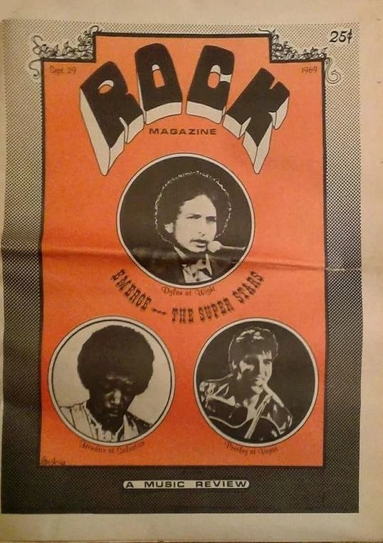 Rock 29 sep 1969 magazine Bob Dylan cover story