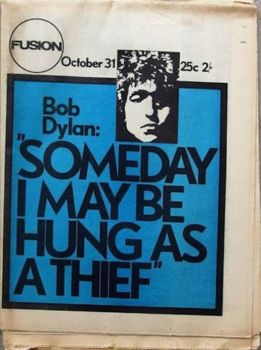fusion 1969 10 31 magazine Bob Dylan cover story
