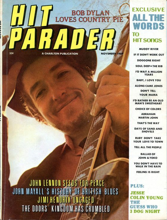 hit parader 1969 11 magazine Bob Dylan cover story