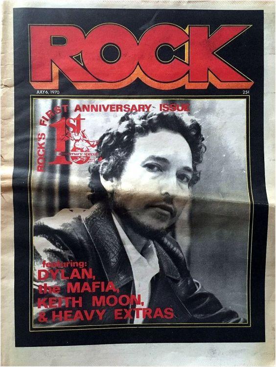 Rock 6 July  1970 ad magazine Bob Dylan cover story