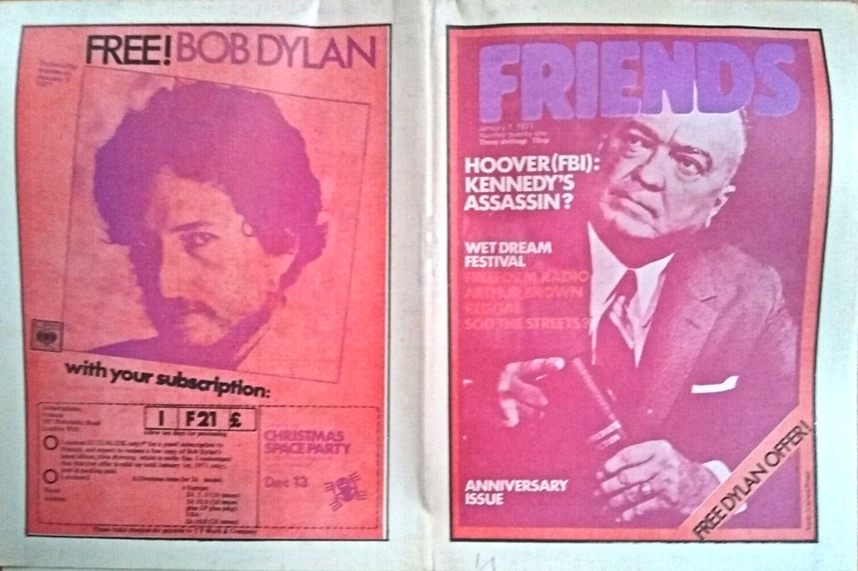 friends Bob Dylan cover story