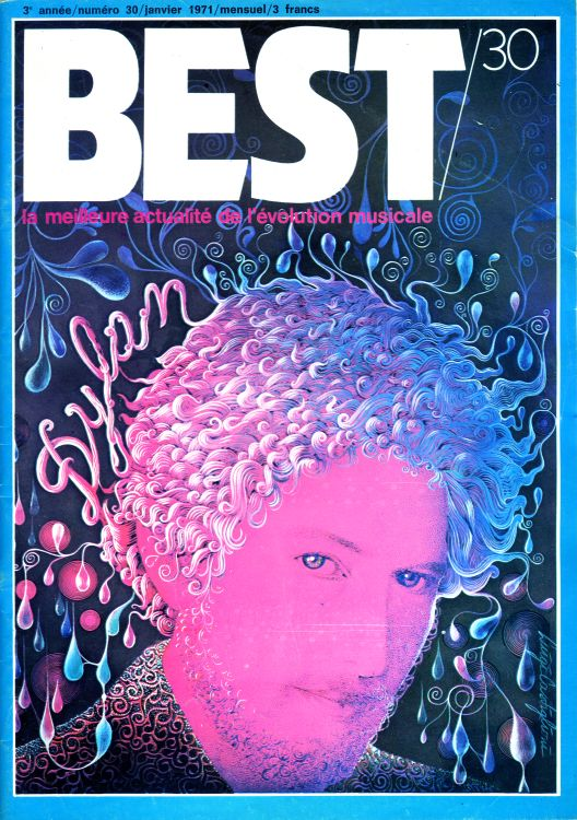 Best 1971 french magazine Bob Dylan cover story