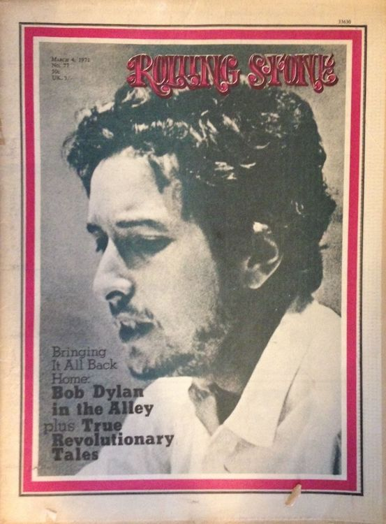 Rolling Stone US #77 magazine Bob Dylan cover story