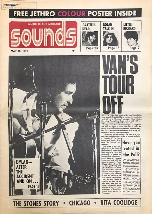 sounds magazine uk 15 May 1971 Bob Dylan cover story