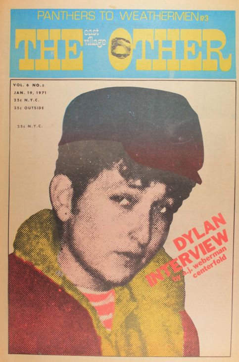 the other east village 1971 magazine Bob Dylan cover story