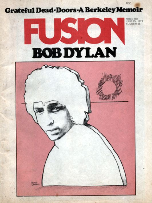 fusion 1971 06 25 magazine Bob Dylan cover story