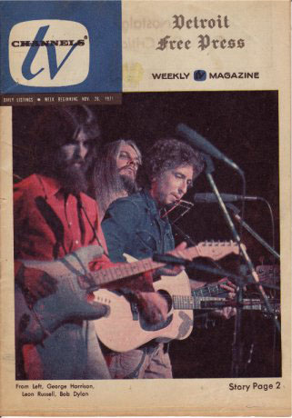 tv chanels detroit  November 1971 magazine Bob Dylan cover story