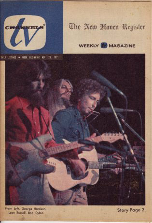tv chanels new haven November 1971 magazine Bob Dylan cover story