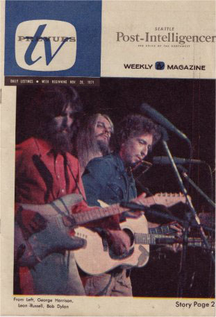 tv prevues Seattle Post-Intelligencer TV programme magazine Bob Dylan cover story