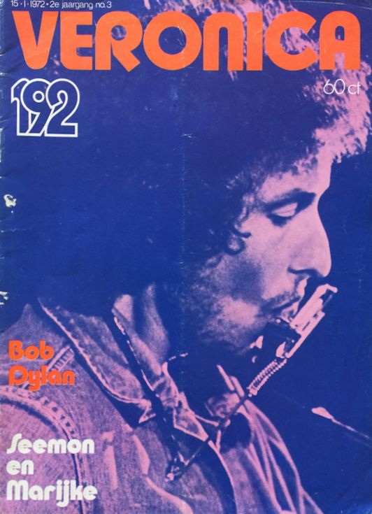 veronica magazine 15 January 1972 Bob Dylan cover story