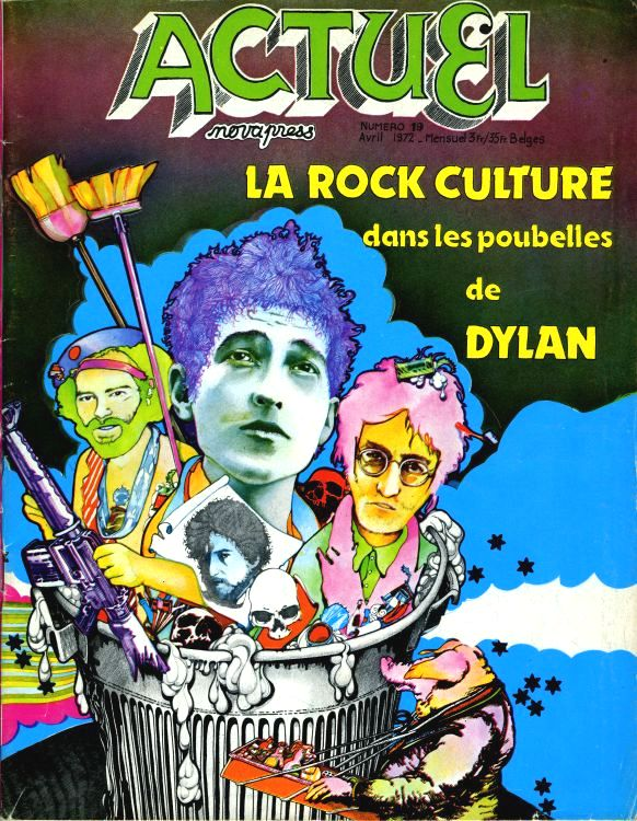actuel magazine Bob Dylan cover story